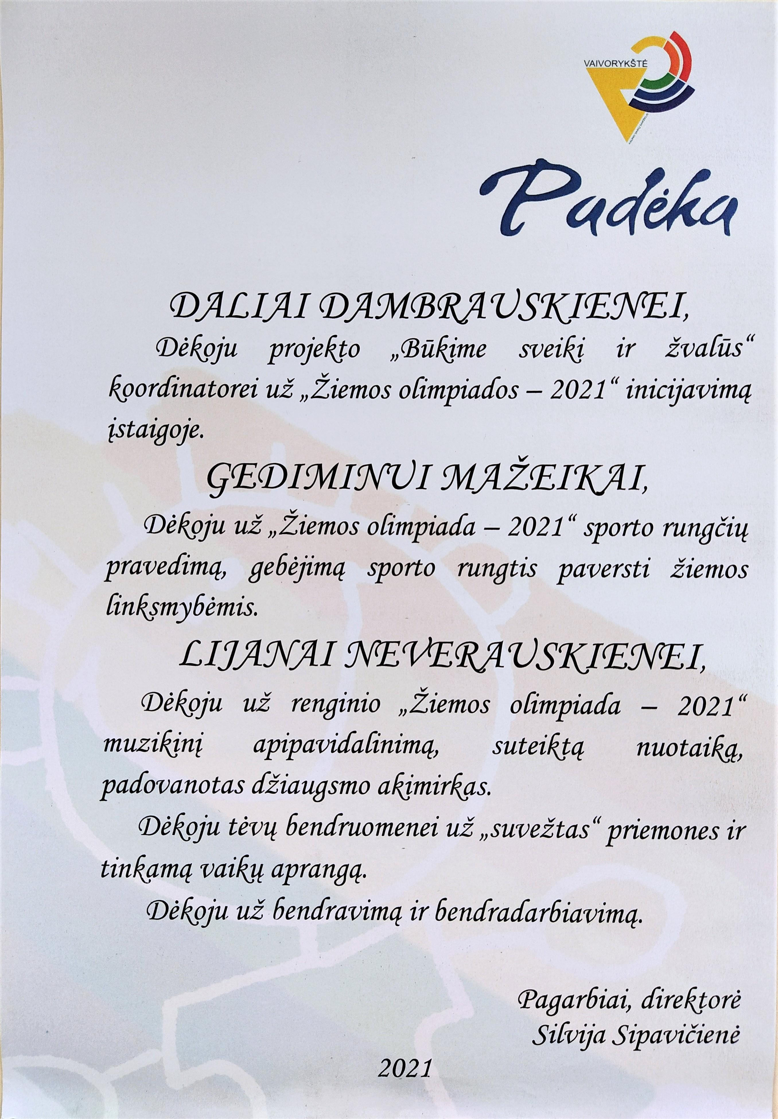 Padeka-Ziemos-olimpiados-2021-organizatoriams